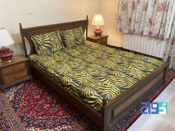 سرویس خواب دونفره طلایی رنگ