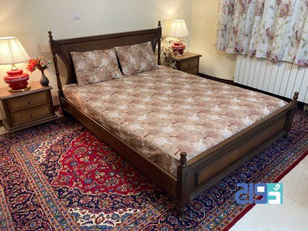 ملحفه و روتختی کش دار عرض ۱۸۰ برای تخت های بزرگ